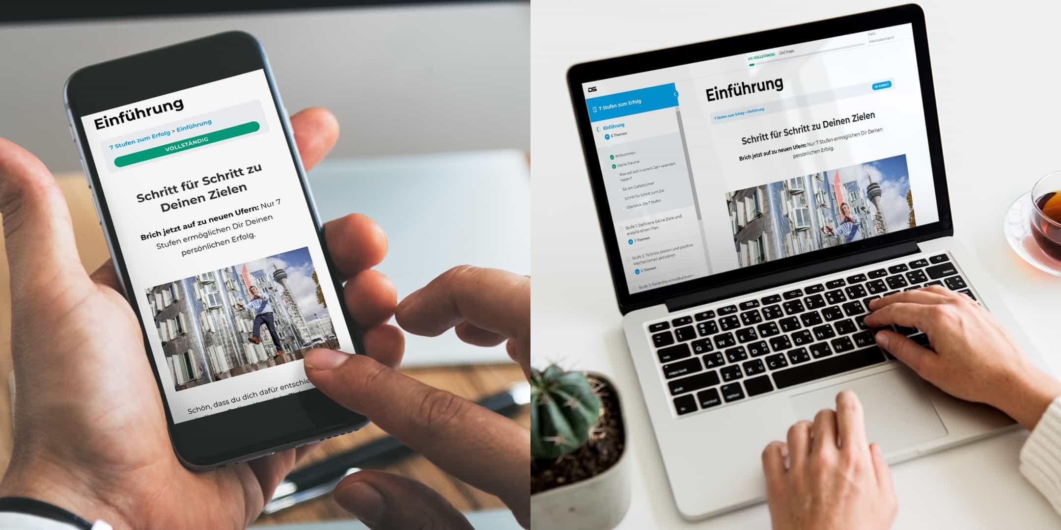 Dirk Schmdit Online-Kurs auf allen Geräten